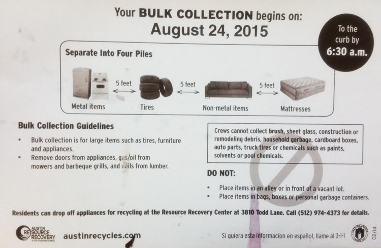 Bulk Collection @ Milwood Neighborhood